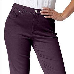 Gloria Vanderbilt Deep Plum Jeans